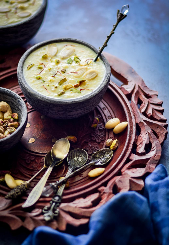 Surprising Paneer Badam Kheer Almond Cottage Cheese Pudding Recipe Home Interior And Landscaping Eliaenasavecom