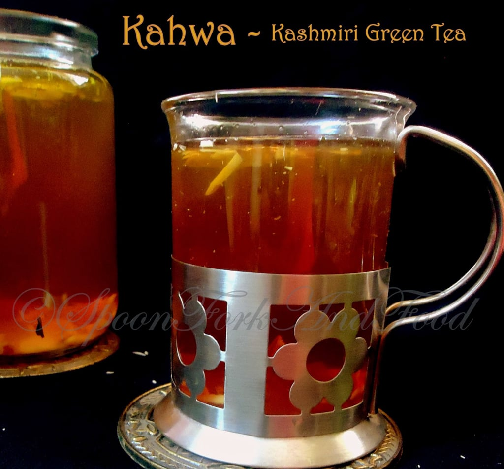 KAHWA ~ Kashmiri Green Saffron Tea! Recipe | Spoon Fork ...Kashmiri Saffron Tea