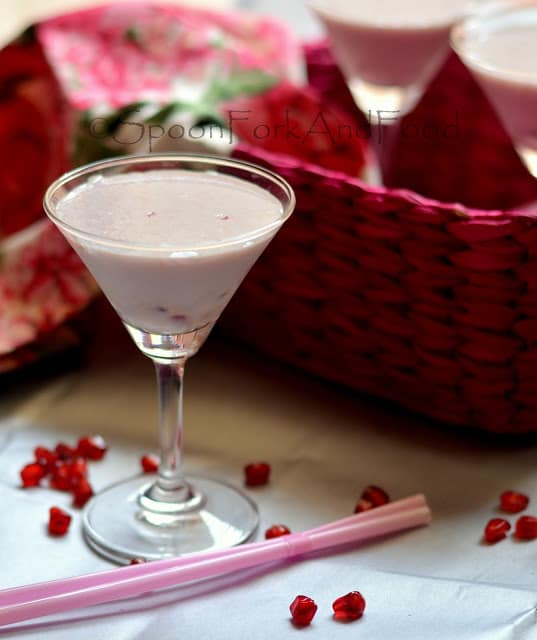 POMEGRANATE & HONEY MILK SHAKE (SUGAR FREE) Recipe | Spoon ...